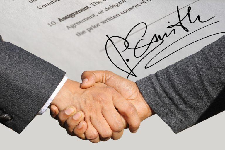 Signature and handshake